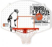 Newport basketbalring met bord 90 x 60 cm wit/oranje