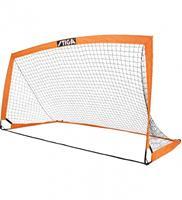 voetbaldoel Match inklapbaar 270 x 150 x 150 cm oranje/zwart