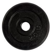 Virtufit Gietijzeren Halterschijf - Halter gewicht - 30 mm - 2,5 kg - Zwart