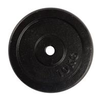Virtufit Gietijzeren Halterschijf - Halter gewicht - 30 mm - 10 kg - Zwart