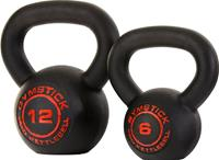 gymstick Pro Neopreen Kettlebell - Zwart - Met Online Trainingsvideo's - 8 kg