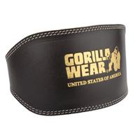 Gorillawear Full Leather padded belt - L/XL