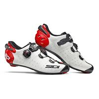 Sidi Wire 2 Carbon Road Shoes - White/Black/Red - EU 44 - White/Black/Red