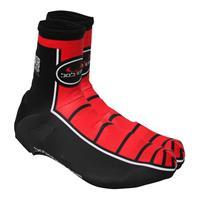 Tijdrit schoenbeschermers, BOBTEAM zwart-rood tijdritoverschoenen, Unisex (dames