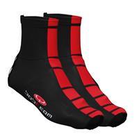 Fietsoverschoenen, BOBTEAM COLORS thermo-overschoenen, zwart-rood