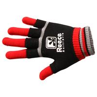 Reece Knitted Player Glove 2 in 1 Zwart/Rood
