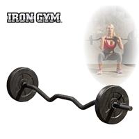 Irongym 23 kg verstelbare curl stang set - 25 mm