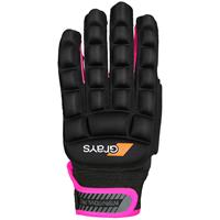 International Pro Glove Links Zwart/Fluor Roze