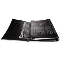 Virtufit Fitnessmat - Yogamat - PVC - 180 x 60 cm - Met oefeningen - Zwart