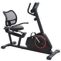 vidaXL Ligfiets hometrainer 10 kg roterende massa