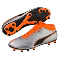 PUMA ONE 4 Synthetic FG Jr Puma Silver Shocking Orange Puma Black