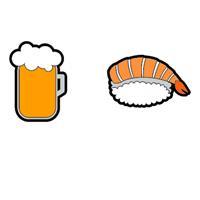 Gamma String Things Bier, Shrimp Sushi Demper In Een Double-pack