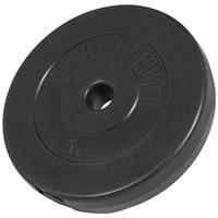 Halterschijf 5 kg Kunststof (zwart)