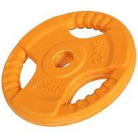 Halterschijf 2,5 kg Gripper Gietijzer (rubber coating)