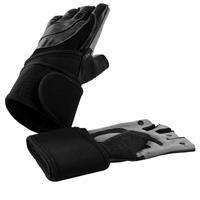 Leren Fitness Handschoenen Met Polsbandage S
