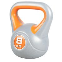 Kettlebell 8 kg Kunststof Trendy (Grijs/oranje)
