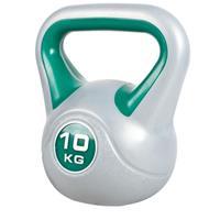 Kettlebell 10 kg Kunststof Trendy (Grijs/groen)