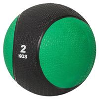 Medicine Ball 2 kg Kunststof (Zwart / groen)