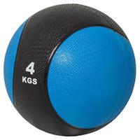 Medicine Ball 4 kg kunststof (Zwart / blauw)