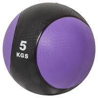 Medicine Ball5kg Zwart / violet (Kunststof)