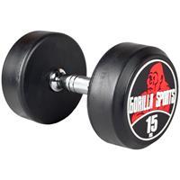 Dumbell 15 kg - Gietijzer met rubberen coating