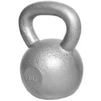 Kettlebell 20 kg Gietijzer - Grijs - extra stabiel