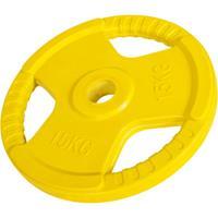 Olympische halterschijf 15 kg Gietijzer rubber coating