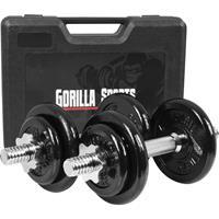 Dumbellset 20 kg -Gietijzer -incl. Koffer