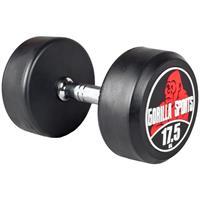 Dumbell 17,5 kg (Gietijzer met rubberen coating)