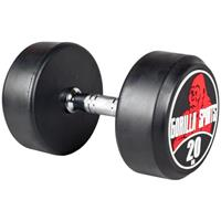 Dumbell 20 kg (Gietijzer met rubberen coating)