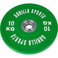 Bumper Plate 10 kg Massief rubber (50/51 mm doorsnede)