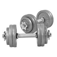 Dumbellset 30 kg Gietijzer (schroefsluiting)