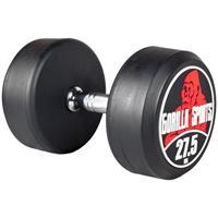 Dumbell 27,5 kg Gietijzer met rubberen coating