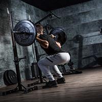 Squat / Bankdruksteunen verstelbaar- belastbaar 180kg