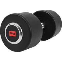 Dumbell 30 kg (1 x 30kg) Gietijzer met rubberen coating