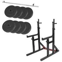 Multi Squat Rack belastbaar tot 260kg + 40 kg halterset