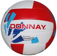 Donnay beachvolleybal wit/rood maat 5