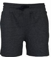Kort joggingshort - Dames - Donker grijs gemêleerd