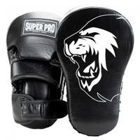 Super Pro stootkussen langwerpige handpads vechtsport zwart/wit
