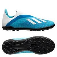 adidas X 19.3 TF Laceless Hard Wired - Turquoise/Zilver Kinderen