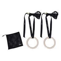 Tunturi Houten Crossfit Ringen - Inclusief Straps