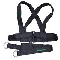 Tunturi trekharnas X shape Pull Harness For Sled zwart