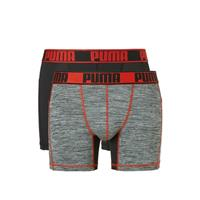 Puma Boxershorts Active Black/Red 2-Pack-M