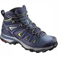 Salomon Wandelschoen x ultra 3 mid gtx® women crown blue evening blue blauw