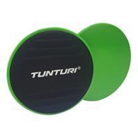 Tunturi Core Sliders buikspiertrainer set 18 cm groen