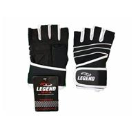 Legend Sports Fitness handschoen legend grip zwart wit
