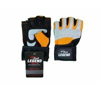Legend Sports Fitness Handschoenen Legend Grip Oranje/Grijs Maat: XS