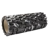 Fit Essentials foamroller massage marmer 33 x 14 cm zwart
