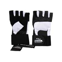 Legend Sports Fitness handschoen leder zwart/wit legend