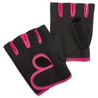 Fit Essentials fitness handschoenen zwart/roze